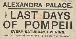 Advert for the Alexandra Palace, reverse side